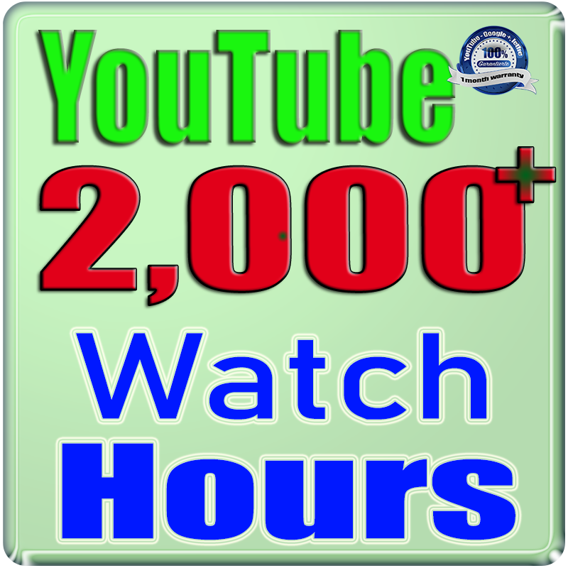 We Will Add 2000+ YOU TUBE Watch Hours and Watch Times For Your Video Safe