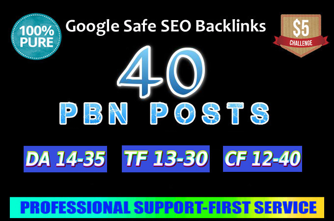Build 40 Real Domain Dofollow Pbn Backlinks with high quality article post
