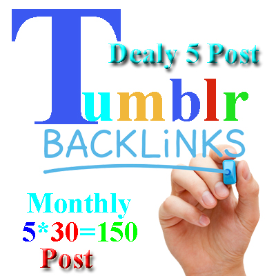 Boosts Your Website /Blog /Service from Tumblr Blogs Every day 30 minutes  5 post 30 Day