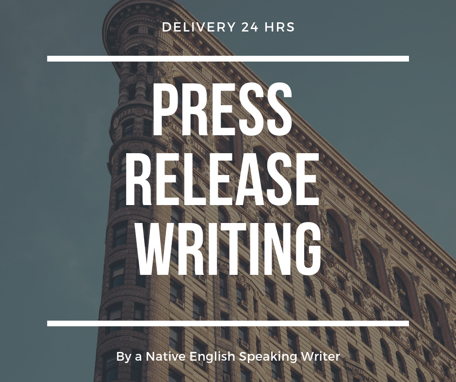 Write a powerful newsworthy press release in 24 hrs