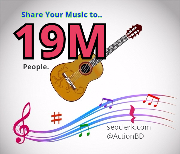 Share your Music or Song among 19M People of Social Media
