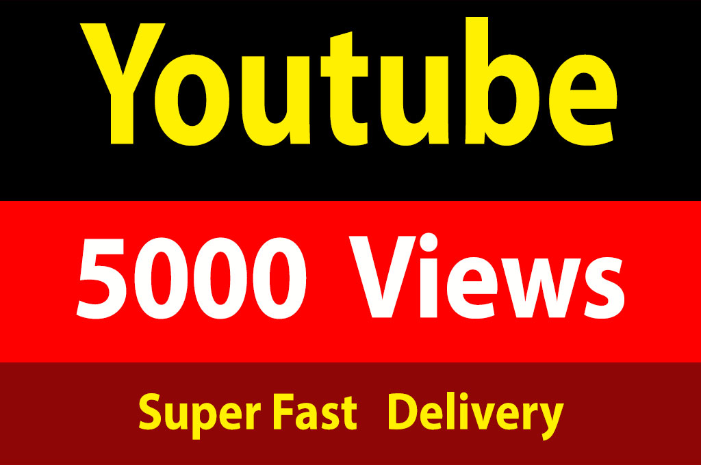 instant 5000 Vieews Fully Safe, Non Drops With Fast Delivery