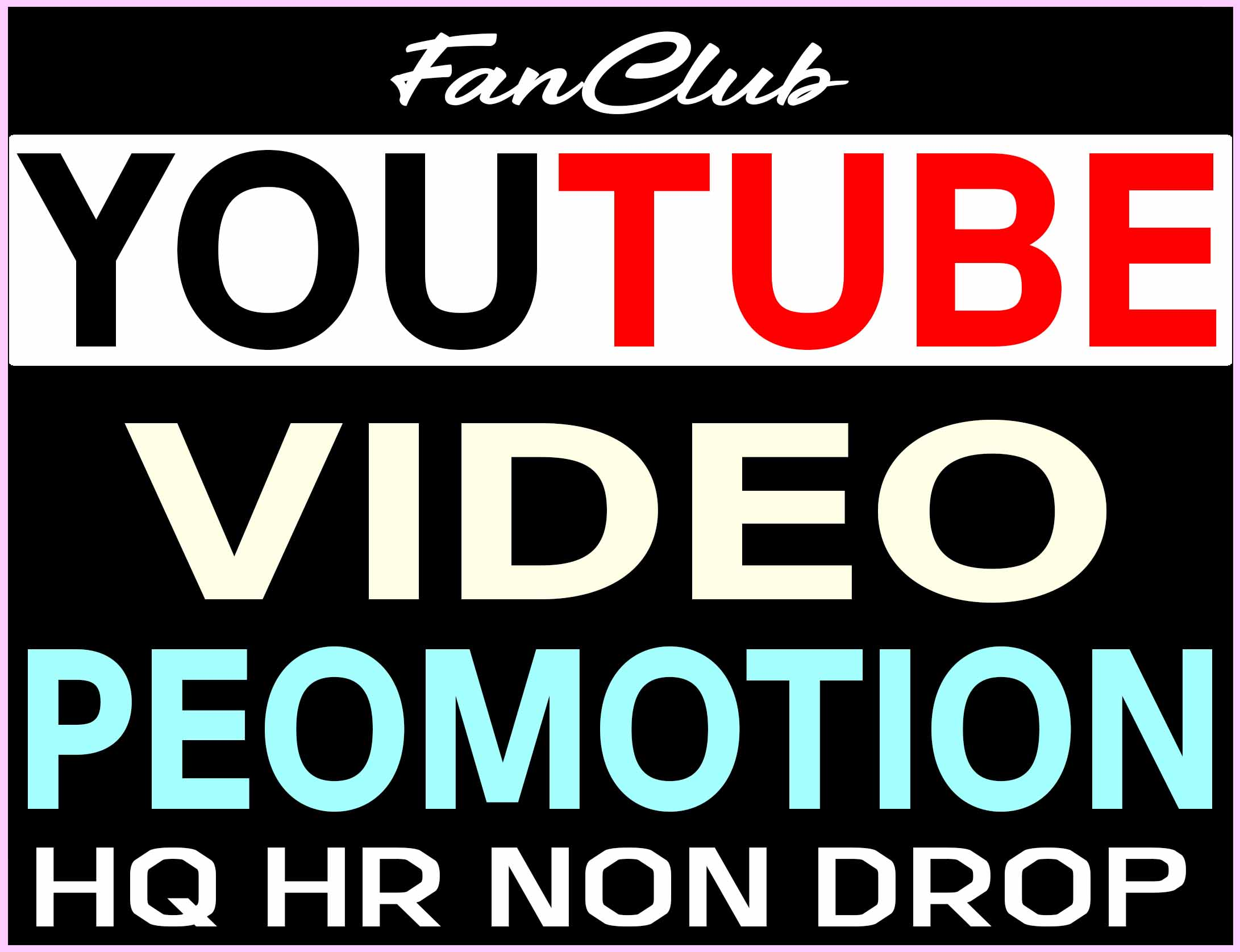 NON DROP YOUTUBE VIDEO PROMOTION AND MARKETING REAL ORGANIC SUPER FAST