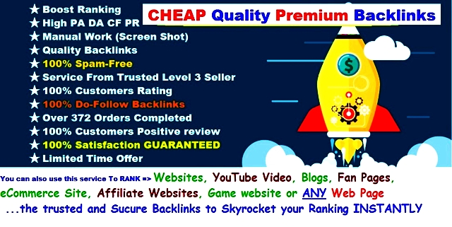 Instant Daily Ranking BULLET Links - Give You 8+ Manual Natural Pr 7 - 9 High DA TF CF Backlinks Daily To Boost Your Ranking Instantly