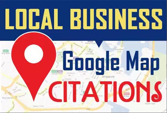I will Do Manually 150 google map citations for local SEO