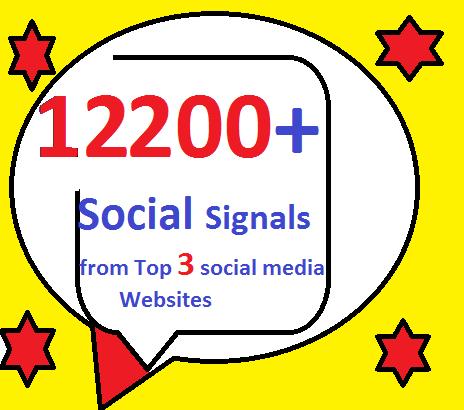 12200+ HQ Mixed Seo Social Signals from Top 3 social media sites PR9 LinkedIn pinterest