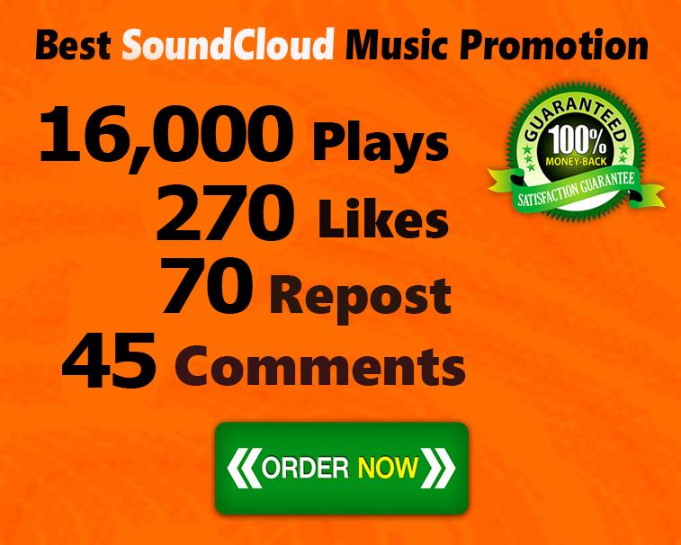 16,000 SoundCloud Plays 270 Likes 70 Repost 45 Comments