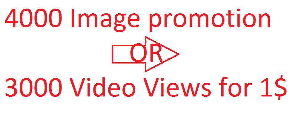 Social media 5000 image promotion or 10000 video views instant