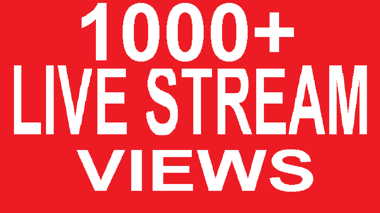 1000+ Embeded Youtube LiveStream Viewers Views