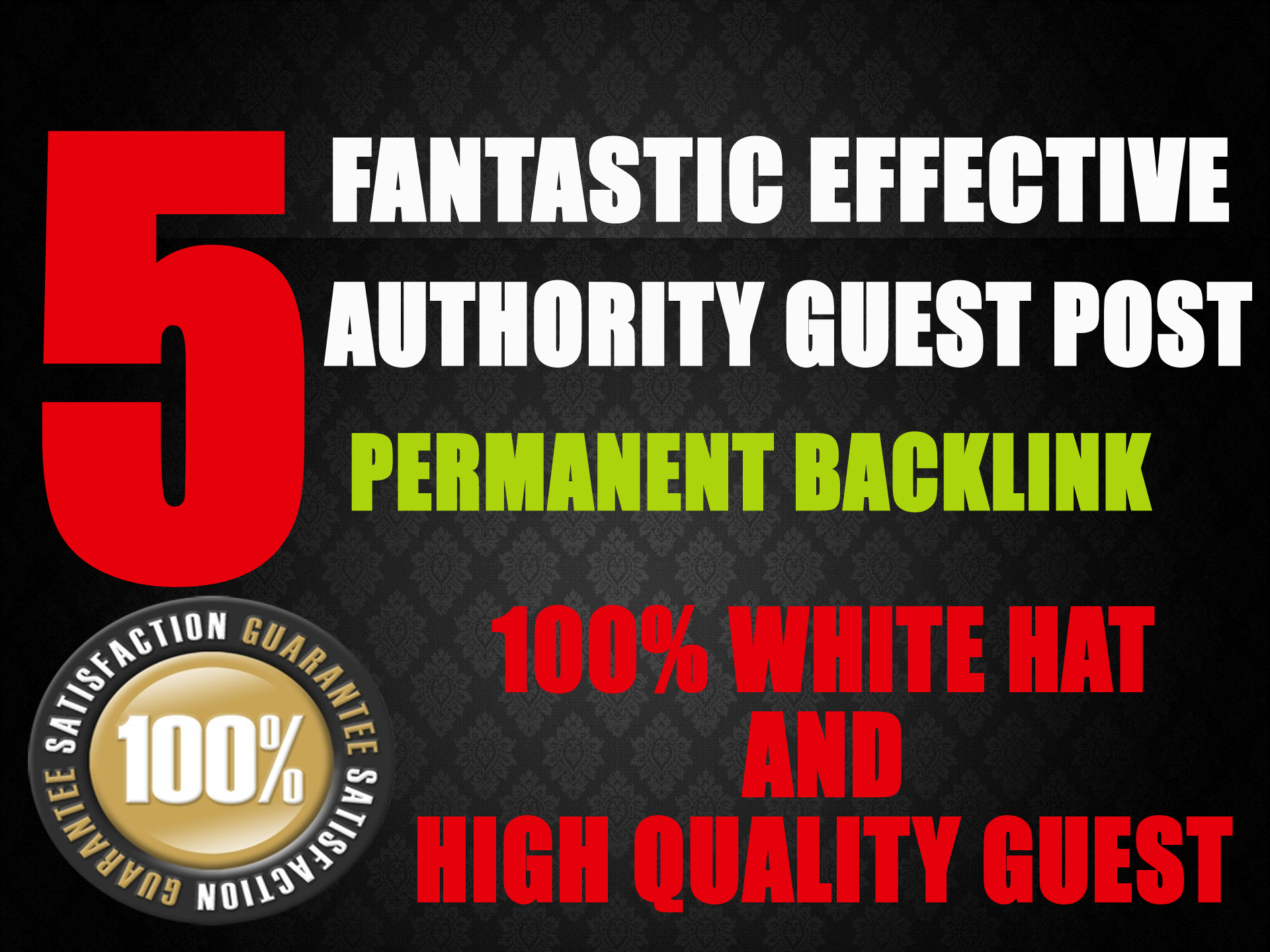 5 Fantastic Effective Authority Guest Post with Permanent Backlinks DA64-94