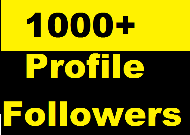 1000+ Social Media Profile Followers very fast and Instant Start