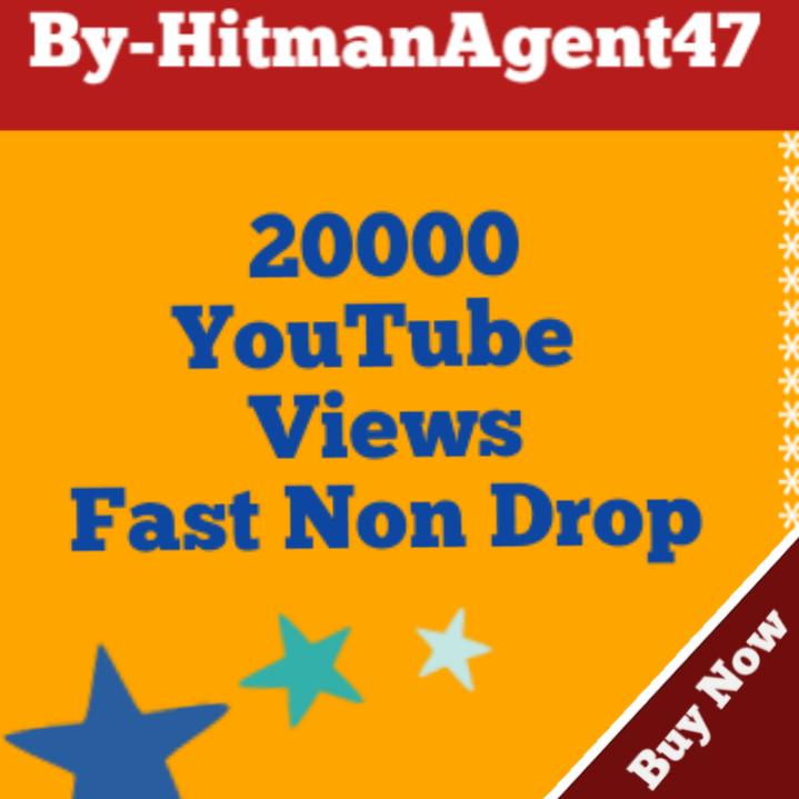 Safe 20000-22000 YT Viiews Fast Non drop