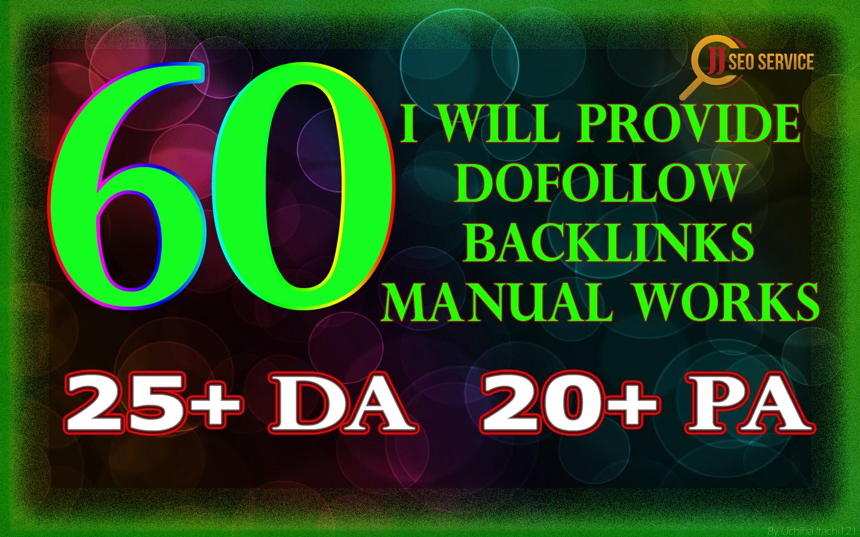 60 Dofollow Backlink service