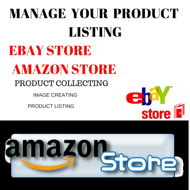 data entry on your eCommerce store ebay, amazon and shopify