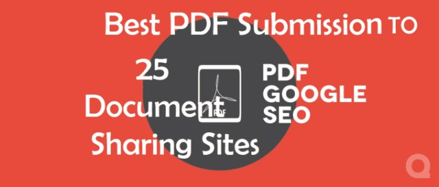Do Best PDF Submission To 25 Document Sharing Sites