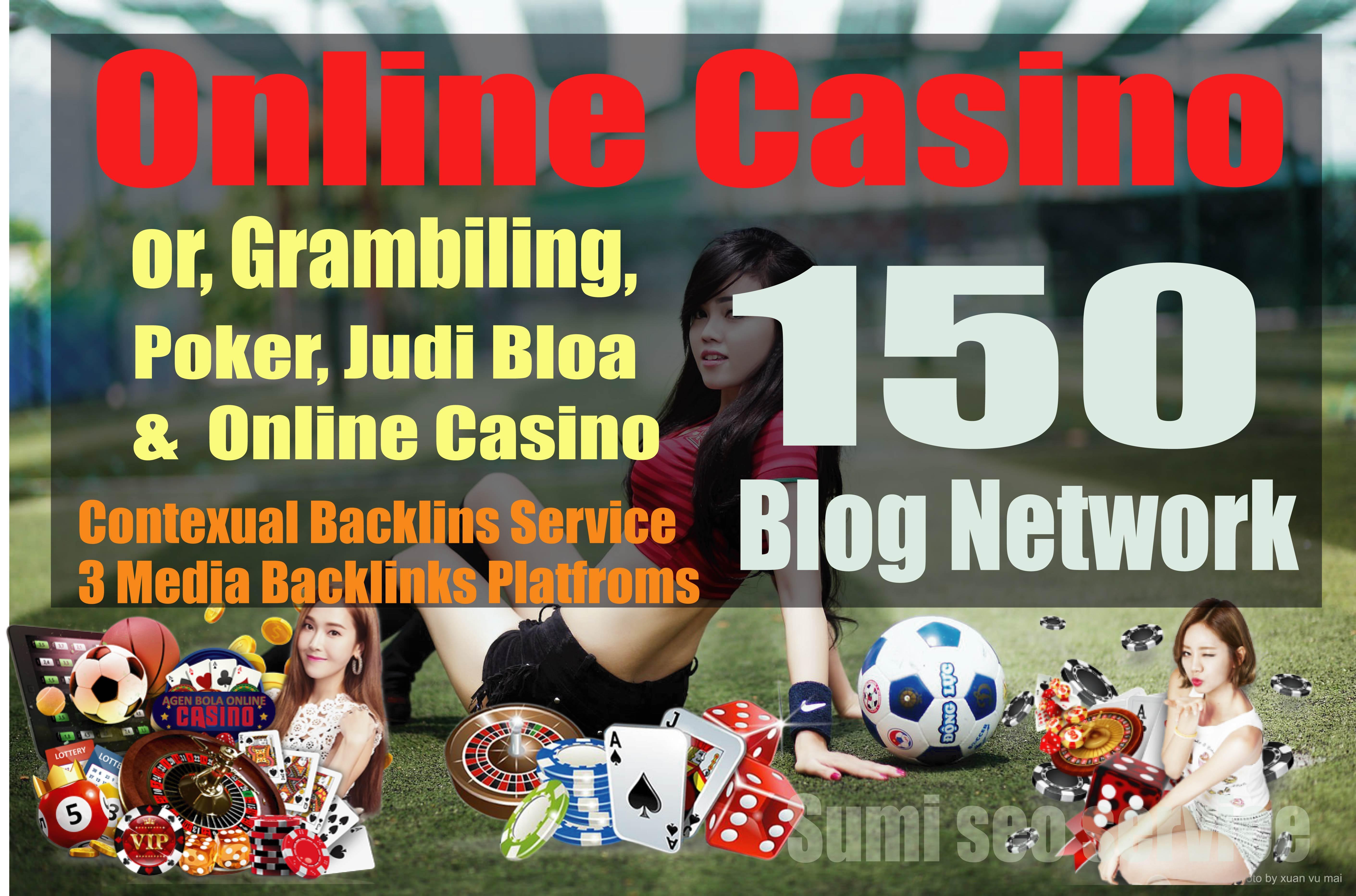 160 Casino Backlinks from Gambling,  Online Casino & Poker web2.0 sites