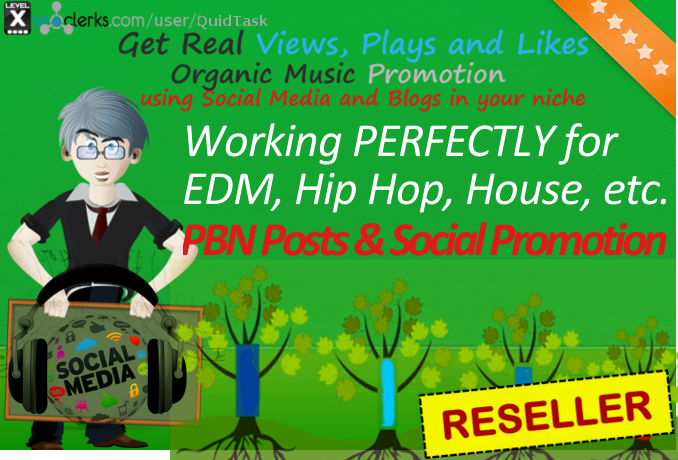 Reseller offer - ORGANIC promotion for song or video all platforms - Embeds and Social Media promo