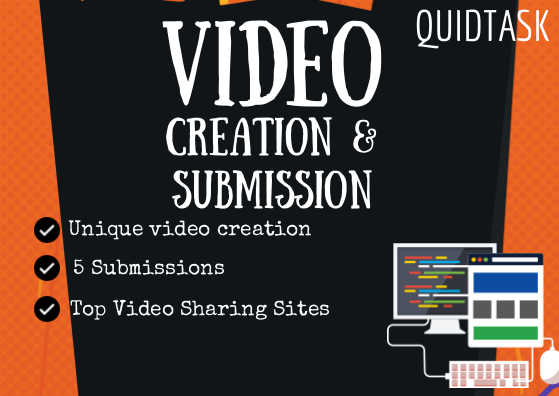 Create SEO Video and submit to 5 PR9 - 7 Top Video Sharing websites with backlink and signals for your link