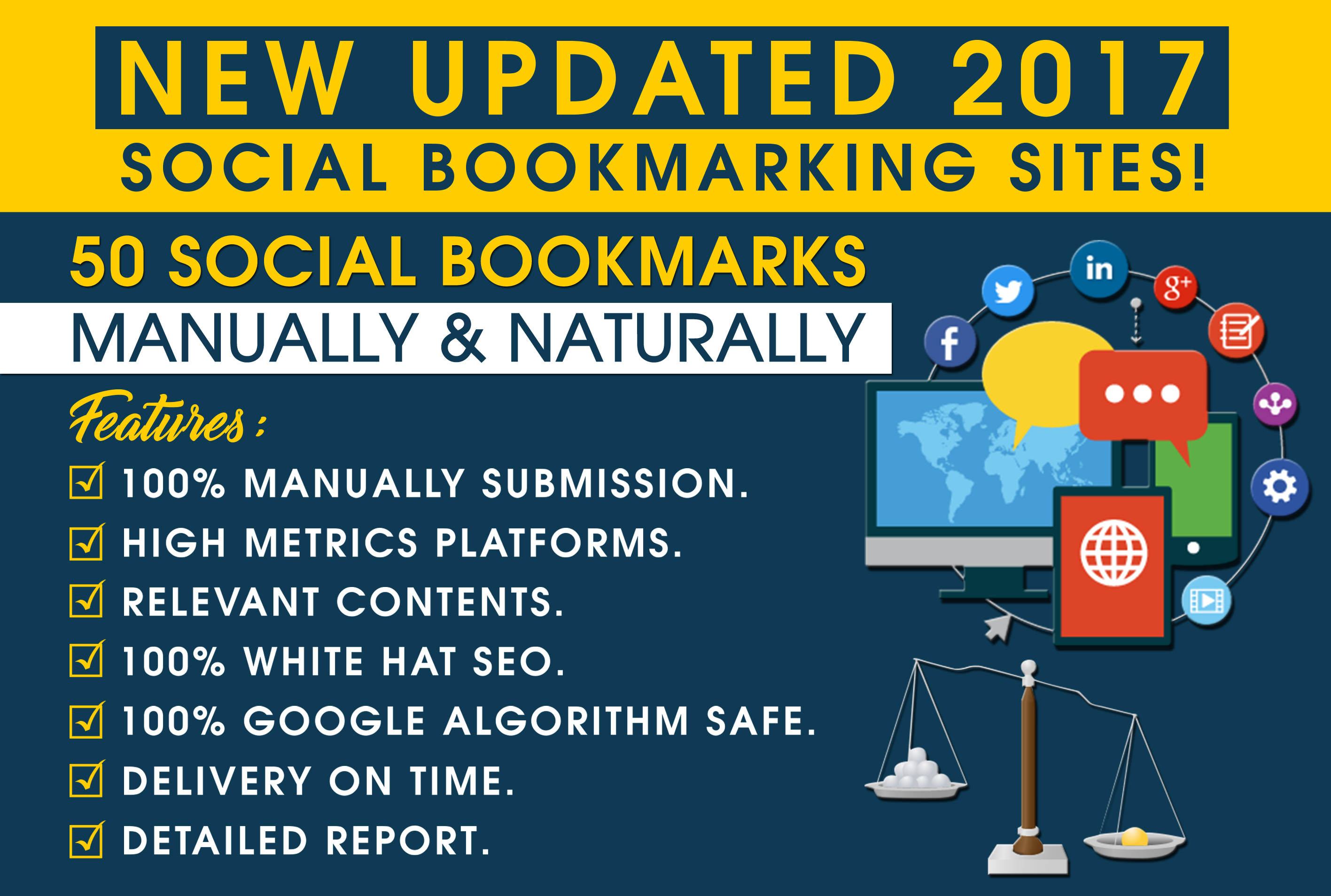 50 Social Bookmarks Backlinks Manually And Naturally