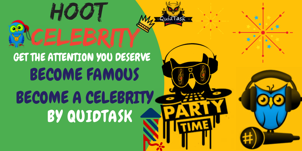 HOOT Celebrity - Become Famous Promote Your Music, Videos, Tracks and Your Official Artist Website Organically and Get More Exposure, Views and People That Love Your Stuff