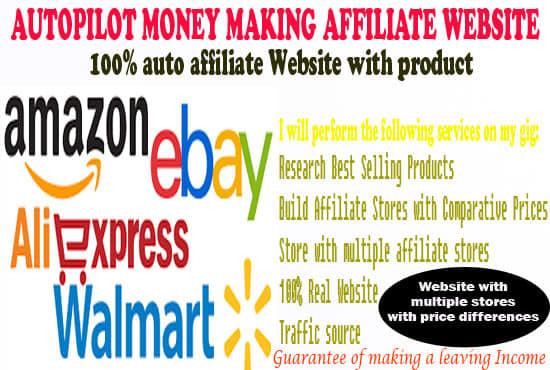Build Auto Pilot Affiliate Ebay, Amazon, Aliexpress Store