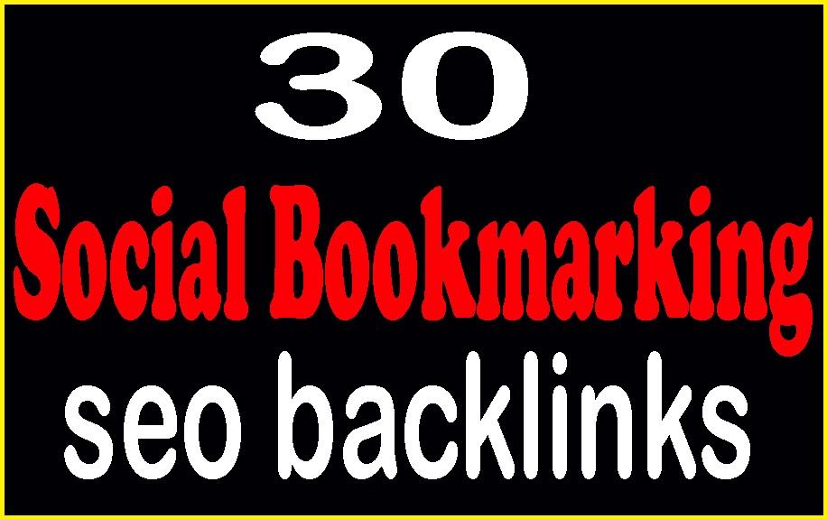 Manually Do 30 do-follow Social Bookmarking your website