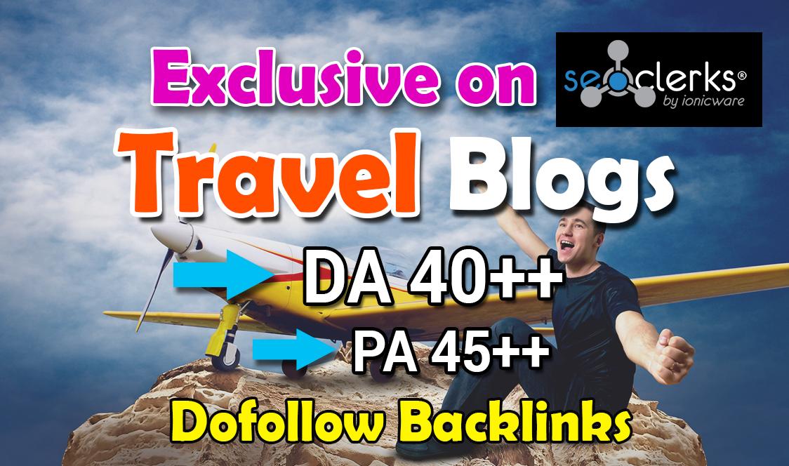 Do Guest Post in 40 DA HQ Travel Blog
