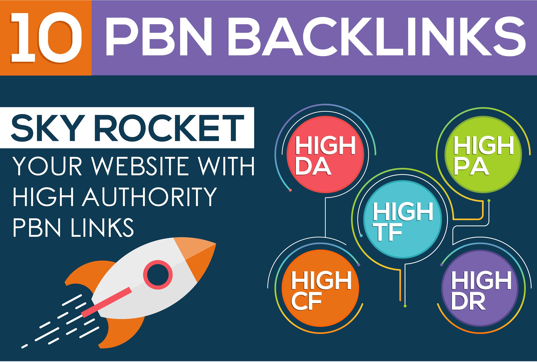 Create 10 HIGH AUTHORITY PBN Backlinks
