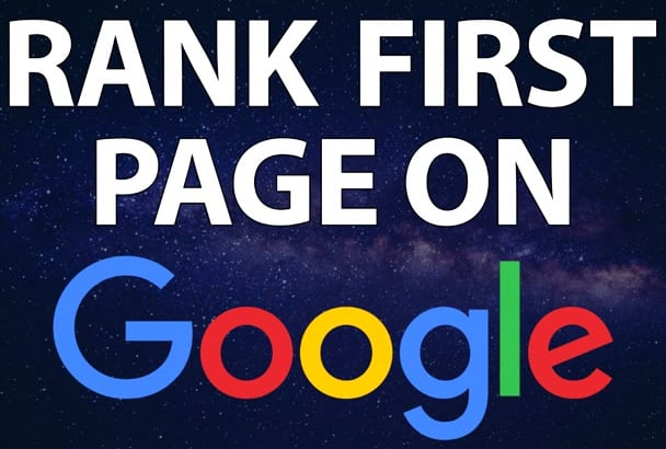 rank your website first page of google only for 70
