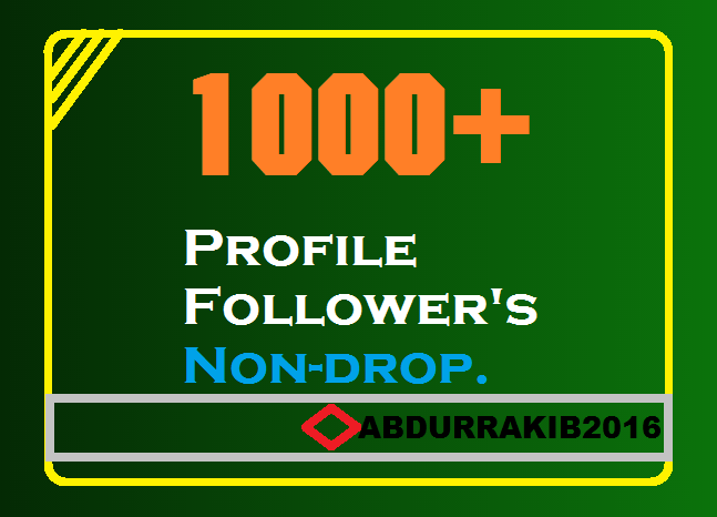 To Get Instant 1000+ High-Quality Profile Follower's ...