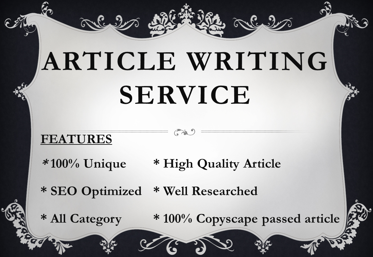 300 Words Article Writing Services