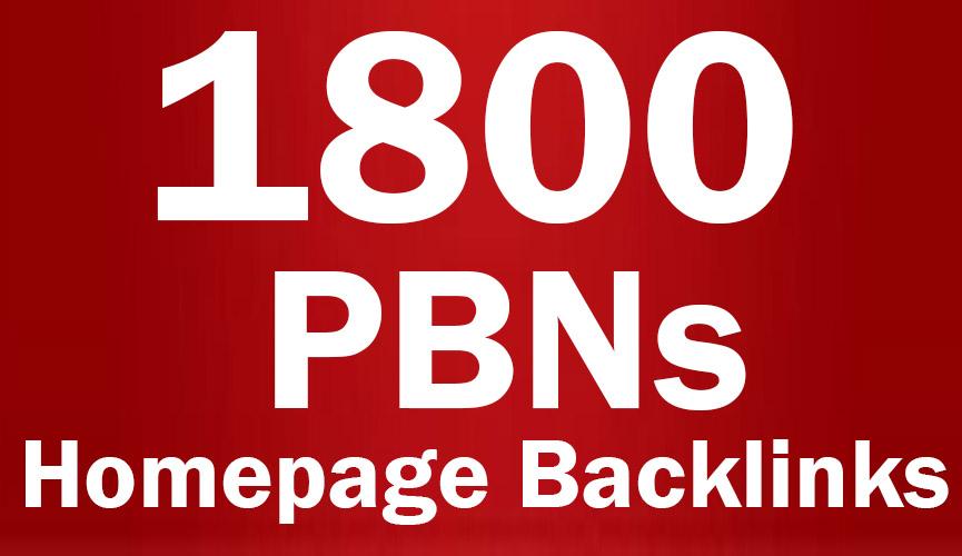 1800 PBNs Permanent Homepage Backlinks - Manual work