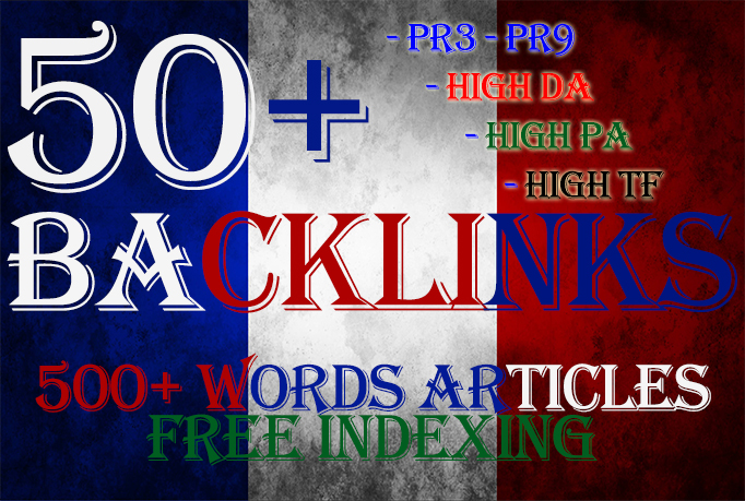 High PR DA French seo backlinks with keyword related content