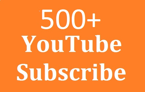 safe 500+ Youtube subs criber real Non Drop refill Guaranteed and very fast