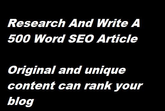 write killer and amazing SEO content