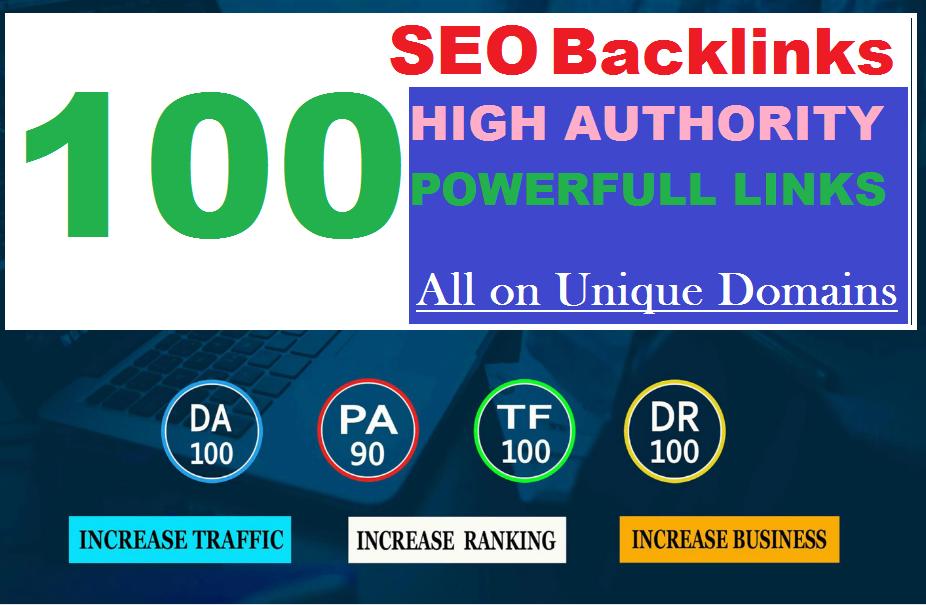 Build 100 HIGH-QUALITY Backlinks 40 PR9+20 EDU/GOV+40 Blog Comment
