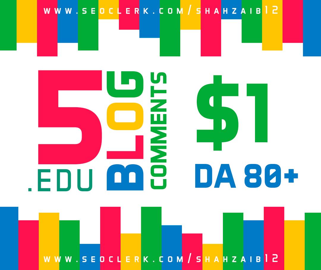 Provide you 3. Edu Blog comment DA 80 +