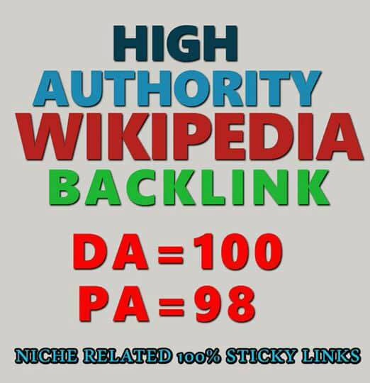 Most Reliable High Authority Wikipedia Backlinks Google Ranking site