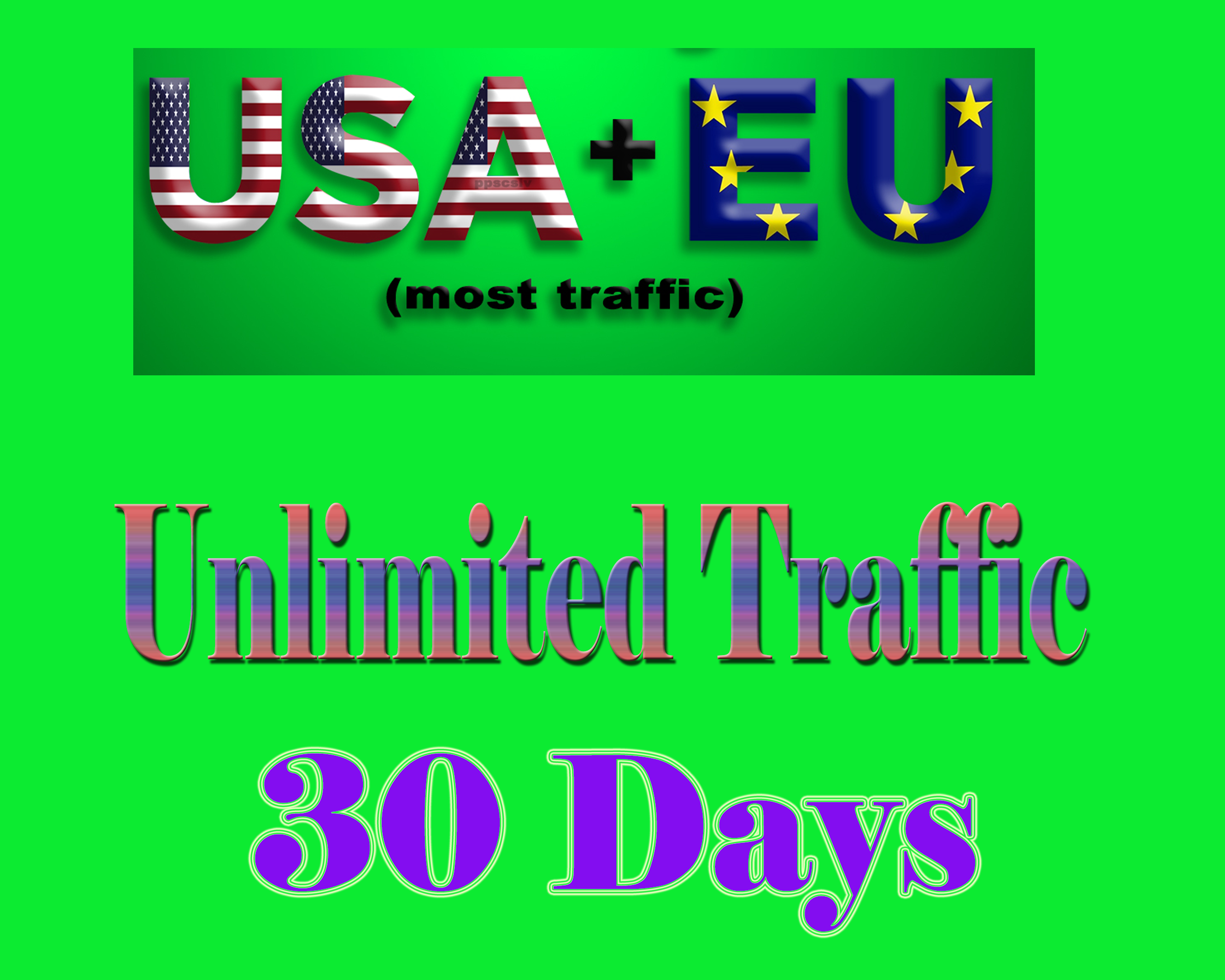 USA EU Unlimited Website Traffic for 1 month