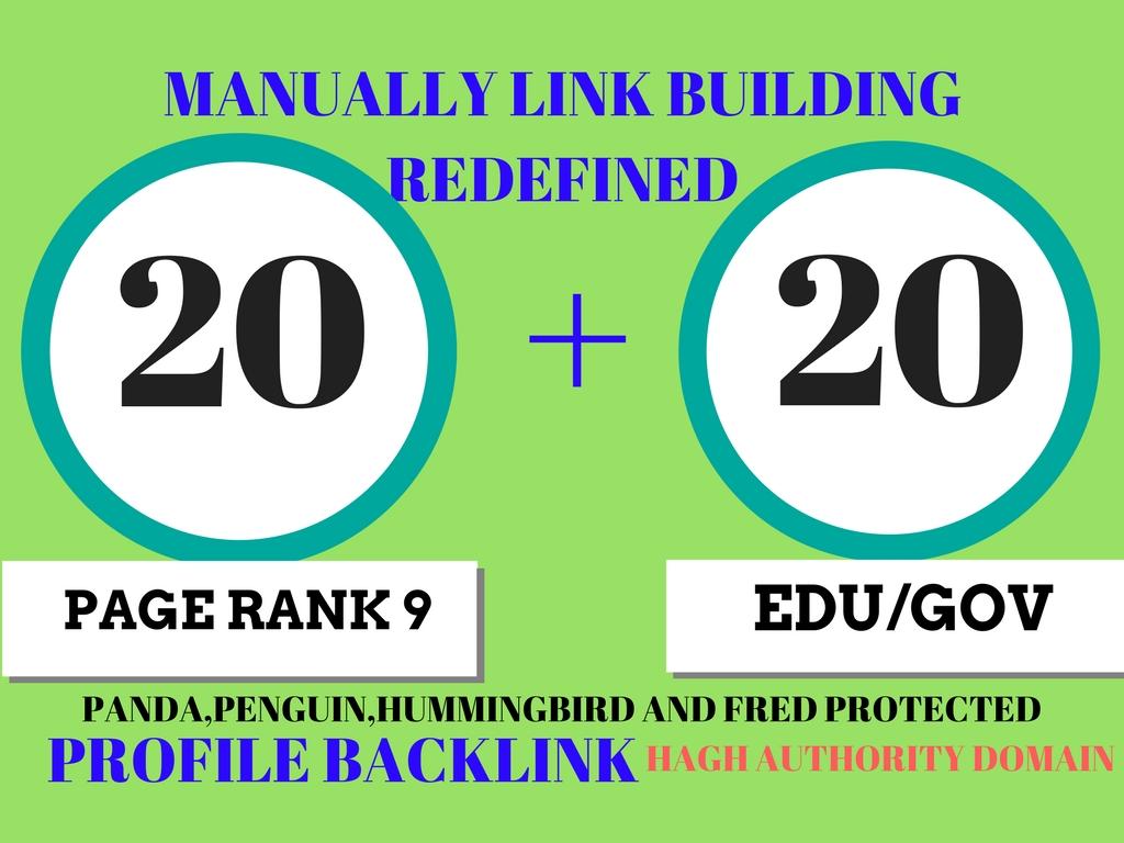 20 Pr9 + 20 Edu - Gov High Pr SEO Authority Backlinks - Fire Your Google Ranking for