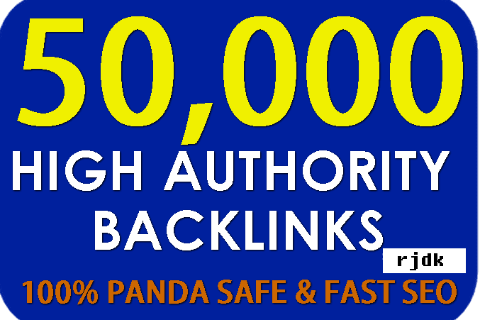 High Authority 50,000 SEO backlinks,  to website improving.