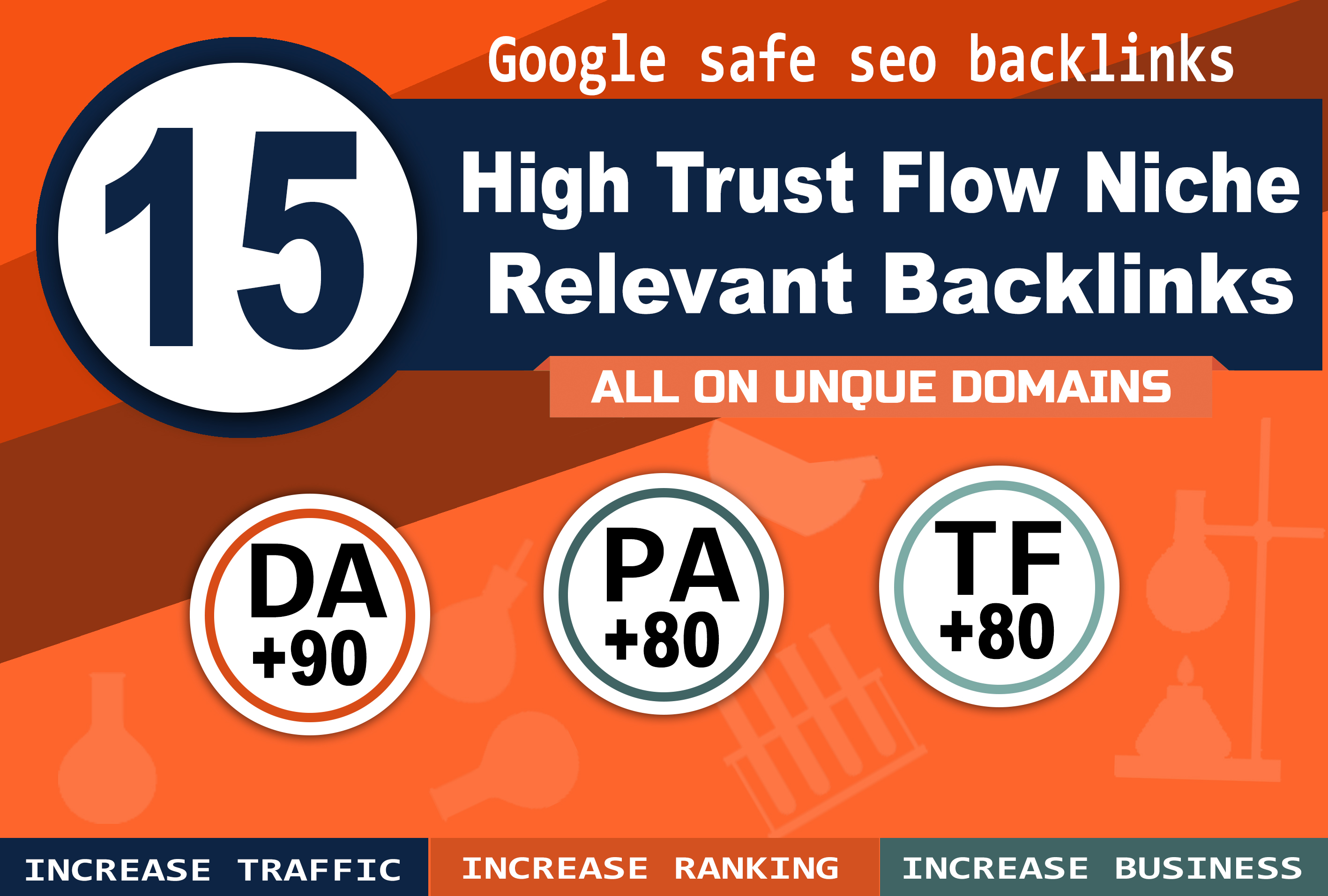 15 High Trust Flow Niche Relevant Backlinks