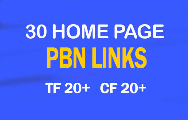 Do 45 High Trust Flow Pbn Backlinks
