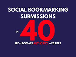 Submit URL Manually To 40 Social Bookmarking Sites In 48 Hours