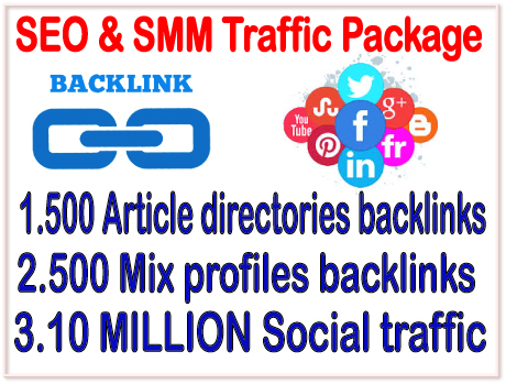 SEO & SMM Promoting Package-500 Article Directori...
