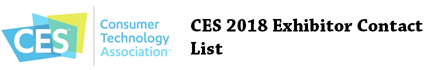 CES 2018 Exhibitor Contact/Email List / Email Database