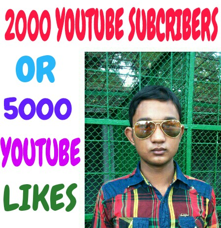 Add fast 2000 YouTube Subscribers or 5000 YouTube Likes real and safety guaranteed.