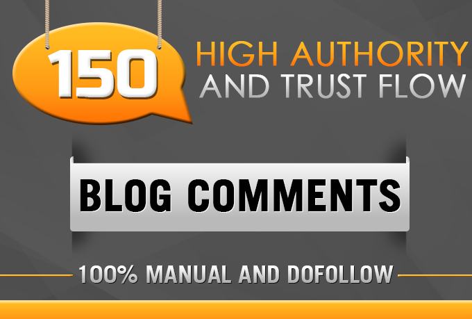 High Authority Blog Comments on Good Trust Flow Pages