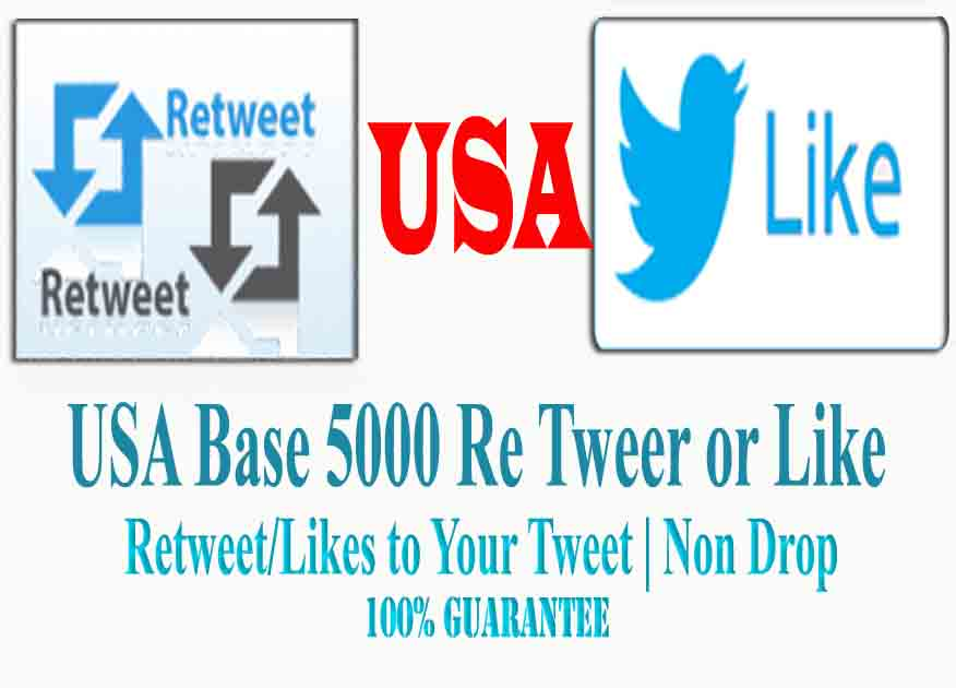 Give you 100 USA retweets or favorites to your tweet