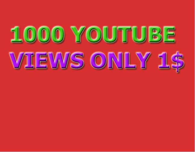 Instant 1000 YouTube Views high quality in 24 hours